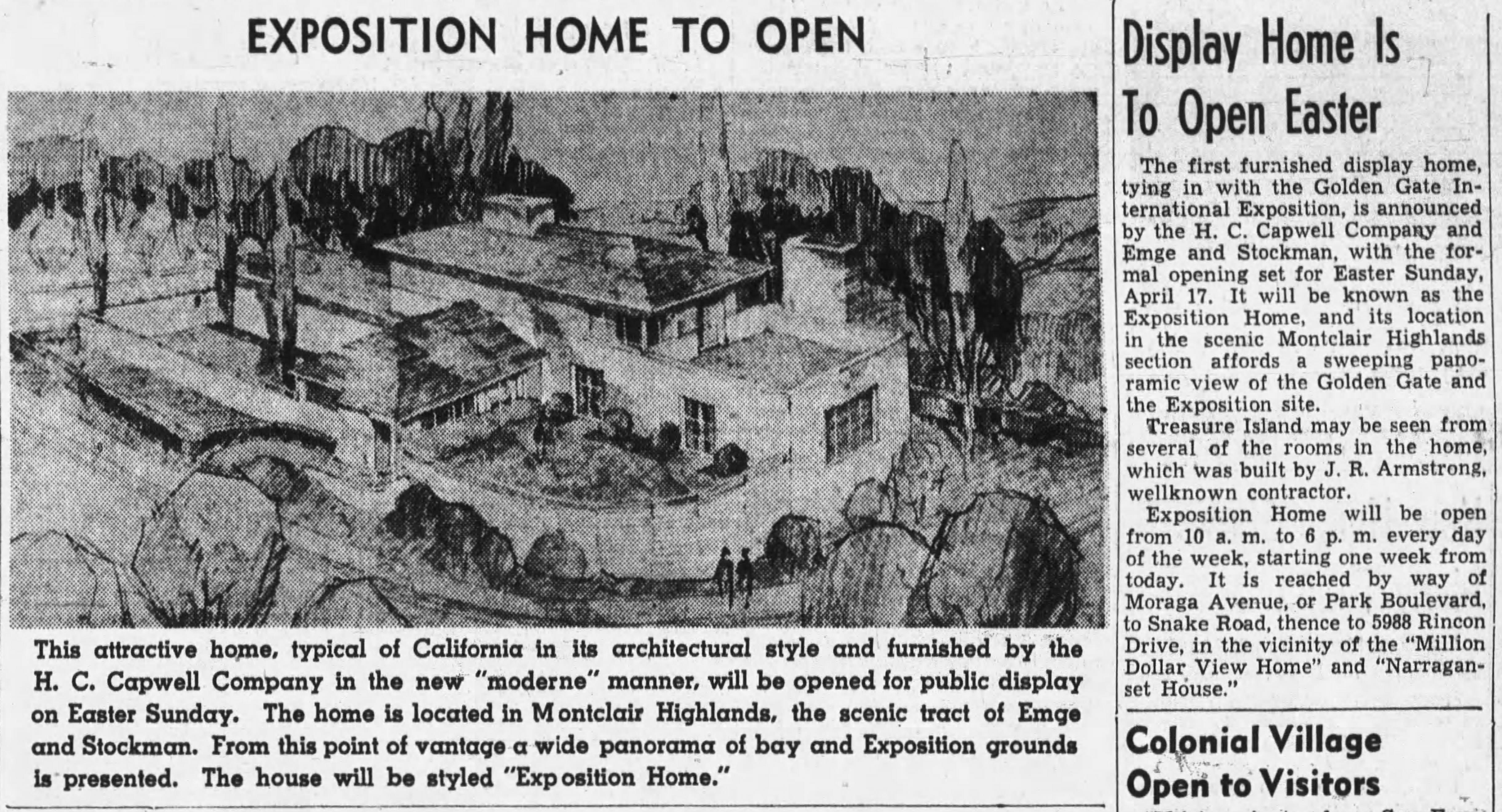 Expostion hometo open Oakland_Tribune_Sun__Apr_10__1938_(1)
