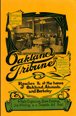 Oakland Tribune Interior office early 1900