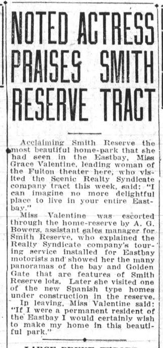 Oakland Tribune Oct 21, 1928