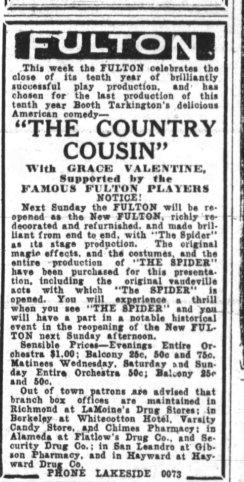 Oakland Tribune Oct 1928