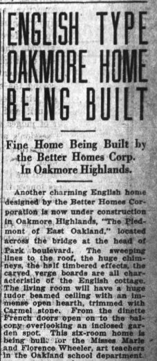 Oakland Tribune May 1927